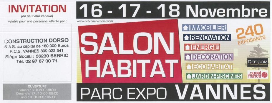 Salon de l'habitat - Vannes Nov 2019